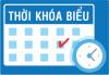 THỜI KHÓA BIỂU LẦN 1 NĂM HỌC 2019-2020 áp dụng từ 26/8/2019